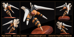 Commission : Mega Beedrill by emilySculpts