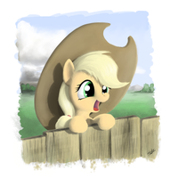 filly applejack by zlack3r