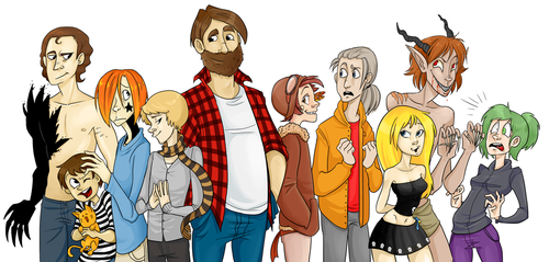 ORIGINAL CHARACTERS for people by Abi-R