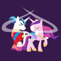 Shadowbox Mock-up:  Cadence and Shining Armor by The-Paper-Pony