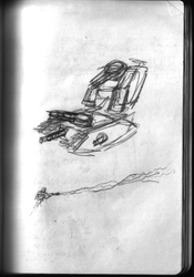 Mars 2050 Concept Sketch - Tank 1 by ForgottenDemigod