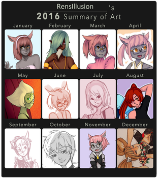 2016 Summary of Art by RensIllusion