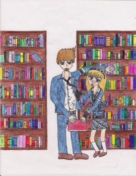 Will And Brooke Library colored! by Ash-a-bash
