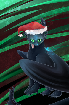 merry christmas ft. toothless by lucelic