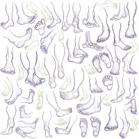 Feet practice 2 by FlyingCarpets