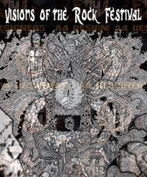 art created for the  visions of the rock festival by NECROGODMETAL