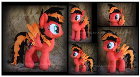 Commission: Gracie Heart Custom Plush by Nazegoreng