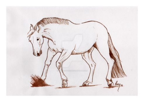 Ink Horse by HorsEquinoS