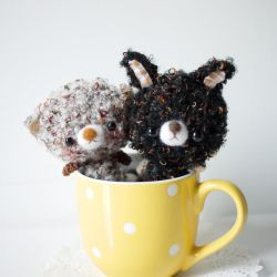 cup bear and bunny by doily
