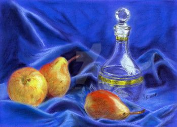 Still life with pear by Luzblanca