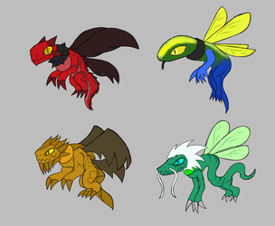 EBF 5 Foe Competition entry - Pixie Dragons by commandergrunt