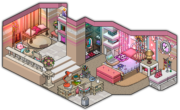 101 % girly bedroom design by Cutiezor