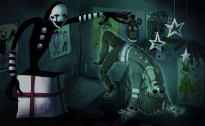 FNAF - Puppet and their ghost by LadyFiszi