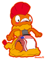 PokePadded - Scrafty (Commission) by the--shambles