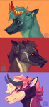 Keb Busts - Commission by AntiDarkHeart