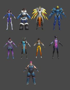 Overwatch (Females) by roodedude