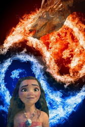 Fire and water  Moana x Smaug by SnowGuardianAngel
