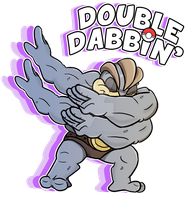 Double Dabbin' Machamp by Adam-Clowery