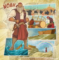 Bible Super Heroes: Noah by eikonik