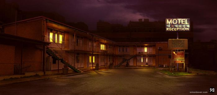 Background - Dodgy motel by SimonBoxer