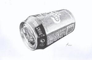 Beer Can (Stippling) by icarus-redemption