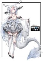 AB Added White dragon girl Adopt Auction [CLOSED] by KeikoTan
