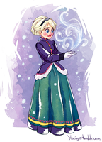 Frozen: Young Elsa by YukiHyo