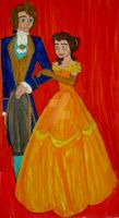 Portrait of Adam and Belle by InkArtWriter