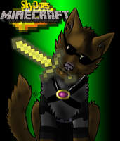 SkyDoesMinecraft Wolf!~ by Sinister-Beast