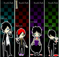 SP: Suicidal Goth Bookmarks by RedMoonDragon