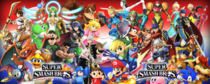 Custom Super Smash Bros Wallpaper. by Mike91444