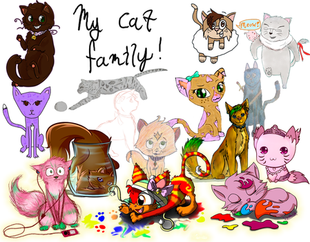 MAH PEEPS ARE KITTEHS!! by AmyNChan