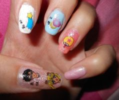 Sailor moon nail art by lexcorp213 on deviantart sailor moon nail art ii by lexcorp213 prinsesfo Images