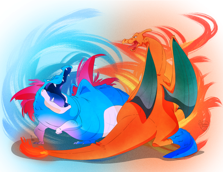 Clash of the Titans by feathers-Ruffled