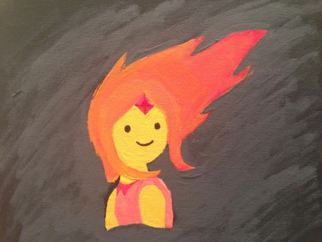 Flame Princess Painting by julesiax