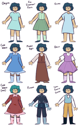 Molly's Outfits by Rhi-Bread