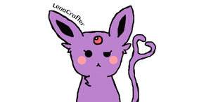 Sassy Espeon by LenaCrafter