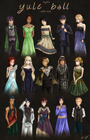 IB: Yule Ball Outfits II by Everluffen