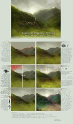 landscape speedpaint tutorial by oione