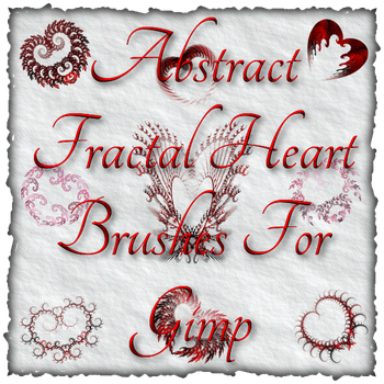 Abstract Fractal Heart Brushes For Gimp by Xavasia