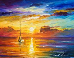 Lonely sea 2 by Leonid Afremov by Leonidafremov
