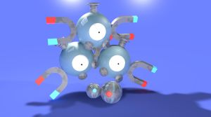 Magneton with Matching Pokeballs