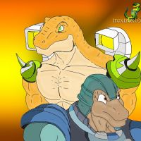 Extreme Dinosaucers by trextrex65