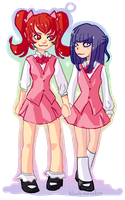 Misao and Aki by blackmosstea