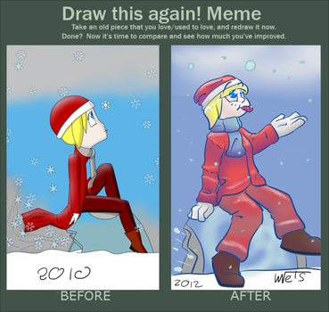 Draw this again meme by metichi