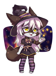 Yin the little witch by AnnetPeas