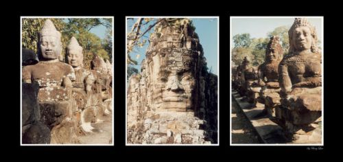Statues in Angkor Wat by BengLim