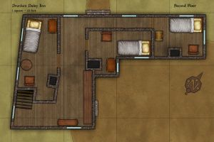 Drunken Daisy Inn Second Floor by Sapiento