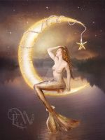 Moonlight Mermaid by EnchantedWhispersArt