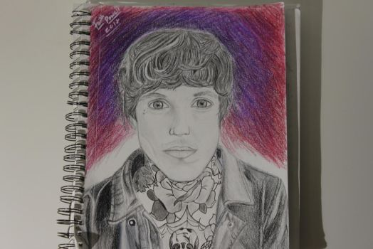 My Drawing of Oliver Sykes from BMTH by WolfzArt13